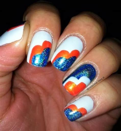 denver broncos nail designs nails bowl sunday bronco nail