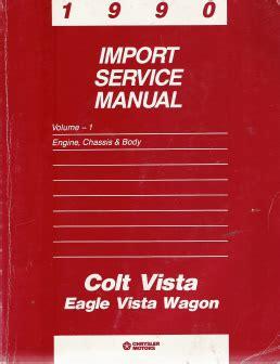 service and repair manuals 1992 eagle premier free book repair manuals 1990 chrysler colt vista eagle wagon service manual 2 volume set
