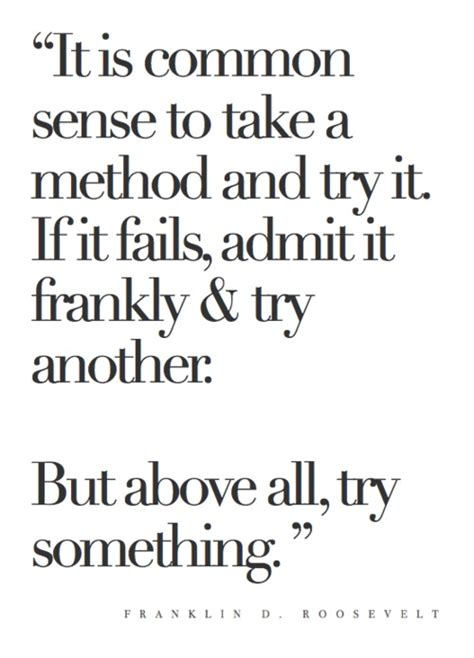 Franklin Roosevelt Quote Method