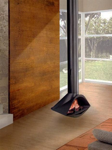 hanging fireplaces adding chic  contemporary interior