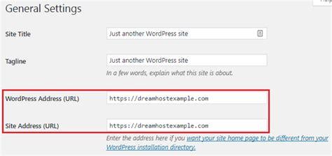 How Do I Change The Wordpress Site Url?