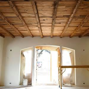 Dining Room with Wood Ceiling Beams