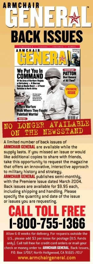 Armchair General by Back Issues Armchair General Magazine We Put You In
