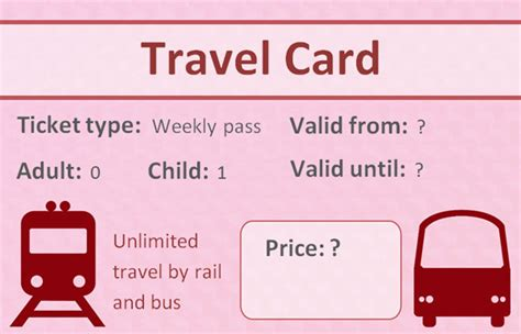editable role play travelcard  early years primary teaching resources eyfs ks