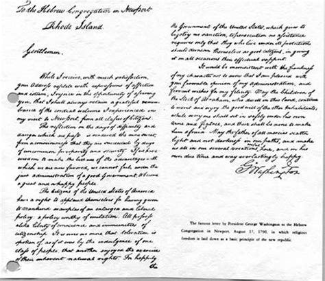 letter to the jews the history of newport rhode island one of the