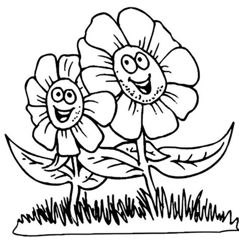 flower cute coloring page  coloring pages