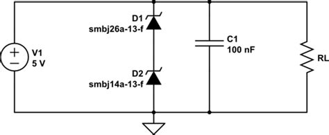 Power Supply Tvs Diodes Series Causing Short