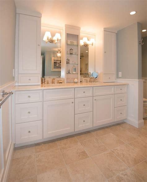 double vanity   maximized storage  tall