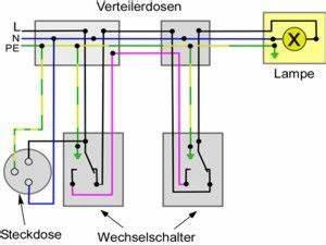 Schaltplan Für Wechselschaltung : wechselschaltung mit steckdosen elektro pinterest schaltplan schalter und elektro ~ Eleganceandgraceweddings.com Haus und Dekorationen