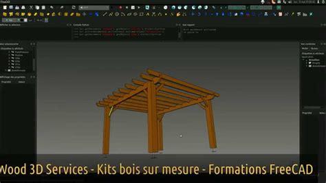 kit pergola bois freecad wood  services youtube