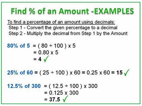 Finding Percentage Amounts Using Decimals  Passy's World Of Mathematics
