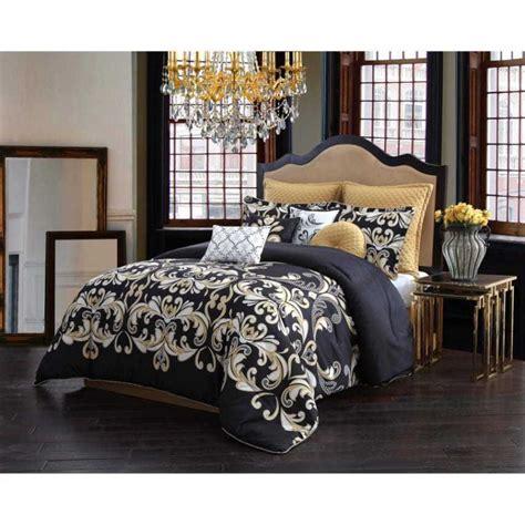 gold comforter set size bedding black 10 comforter set damask