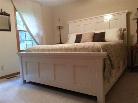 king farm house bed    home projects