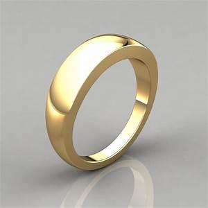 Plain Wide Gold Wedding Band Ring PureGemsJewels