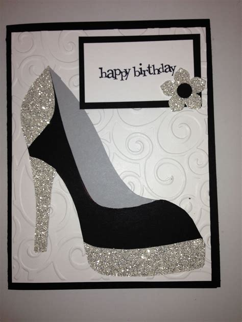 high heel shoe card birthday tanya bells high heel shoe
