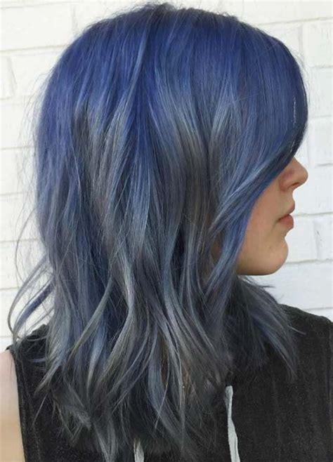 Coloring Hair Blue by 50 Magically Blue Denim Hair Colors You Will