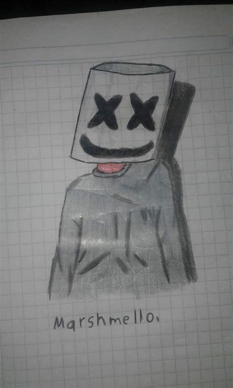 Mi dibujo de Marshmello •Dibujos y Animes• Amino