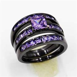 purple and black diamond engagement ring diamondstud