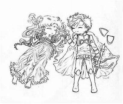 Serenity Moon Sailor Princess Prince Crystal Endymion