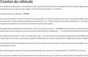 Déclaration De Cession D Un Véhicule à Remplir : qu 39 est ce que le code de cession site immatriculation ~ Medecine-chirurgie-esthetiques.com Avis de Voitures