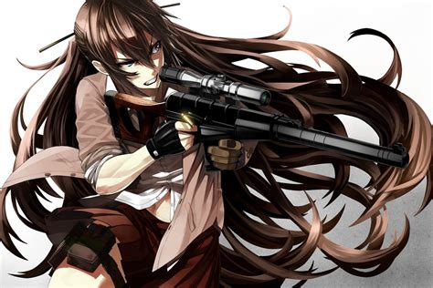 Download 1500x1000 Anime Girl Sniper Angry Expression
