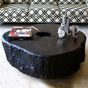 17 best images about interieur tuin ideeeeeeeeenn on for Silver tree trunk coffee table