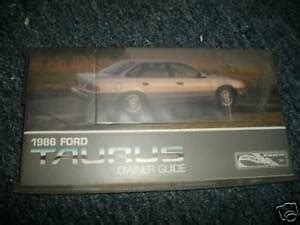 ford taurus factory owners manual packet  case ebay