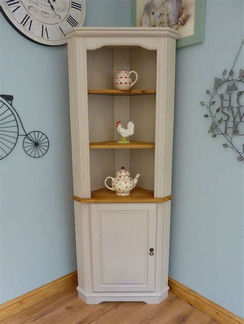 shabby chic painted kitchen cabinets beautiful painted shabby chic pine corner unit storage shelves cabinet dresser beautiful