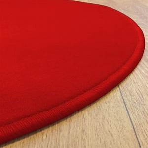 tapis rond rouge modena par vorwerk With grand tapis rouge