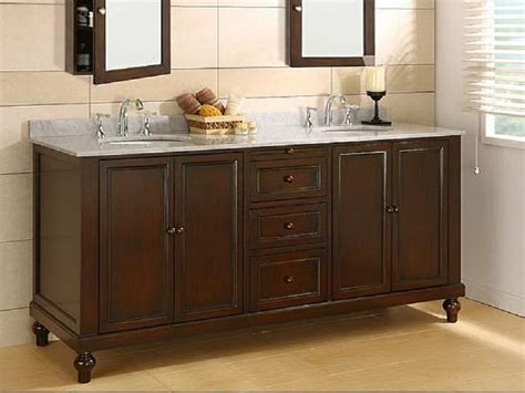 Classic Double Bathroom Sink Base Vanity And Cabinet