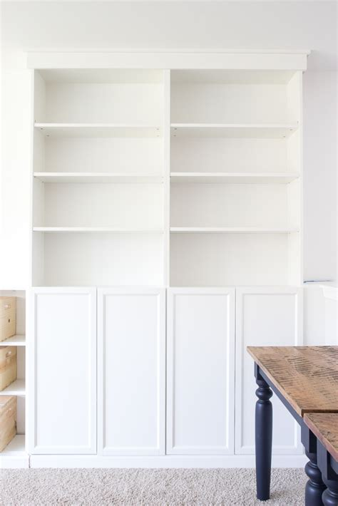 bookcases that look built in diy built ins from ikea bookcases orc week 2 bless 39 er