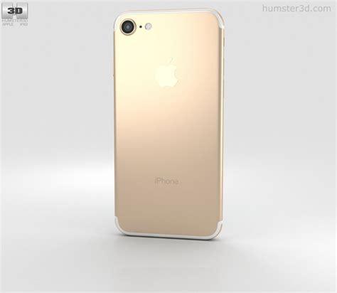 gold iphone 7 apple iphone 7 gold 3d model hum3d
