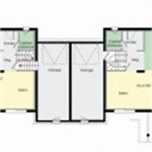 plan maison duplex gratuit With plan maison mitoyenne par le garage
