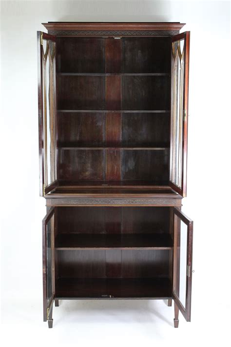 Mahogony Bookcase by Antique Edwardian Mahogany Bookcase
