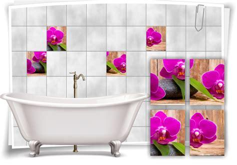 Fliesenaufkleber Orchidee by Fliesenaufkleber Fliesenbild Orchidee Steine Zen Pink Lila