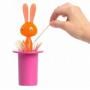 A Di Alessi Magic Bunny Toothpick Holder - Pink NOVA68
