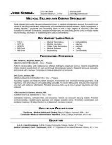 Exle Of Billing And Coding by Billing And Coding Resume Exles Cool Stuff To