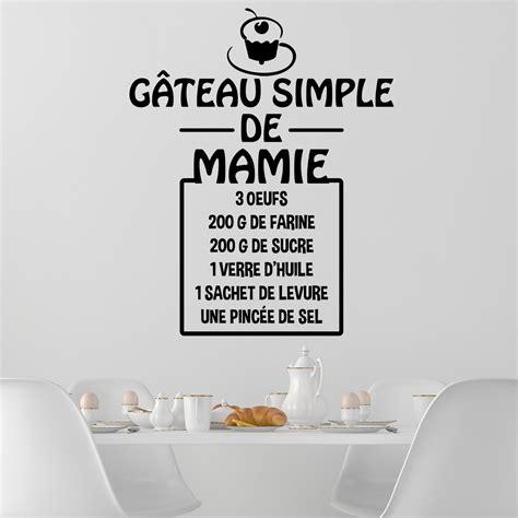 stickers recette de cuisine sticker citation recette gâteau simple de mamie stickers