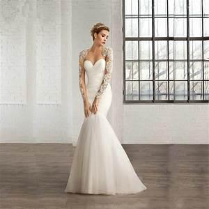 new white tulle mermaid wedding dresses 2017 long sleeve With wedding dresses 2017 mermaid