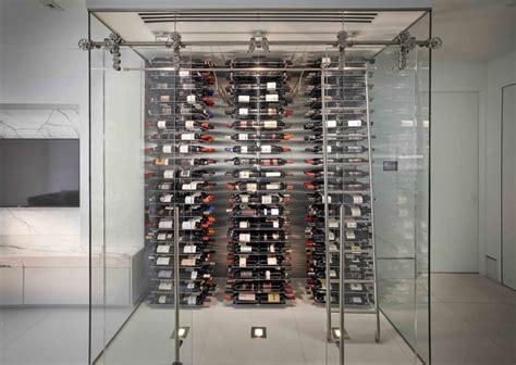 key biscayne florida modern wine cellar