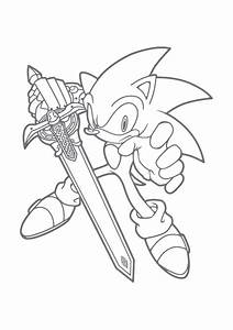 Free Printable Sonic The Hedgehog Coloring Pages For Kids