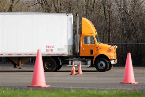 truck training driver semi cdl driving parking test skills put emphasis student class license maneuvers program carriers safety rule drivers