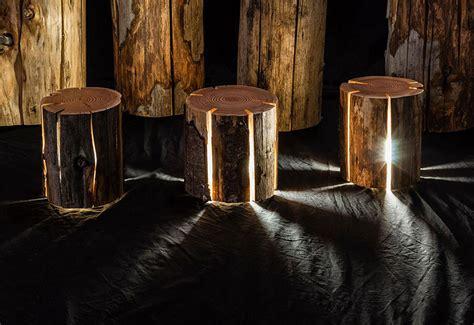 legally blind artist  cracked log lamps bursting