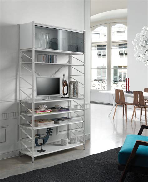 scaffali per libreria socrate 151 libreria scaffale per soggiorno in acciaio