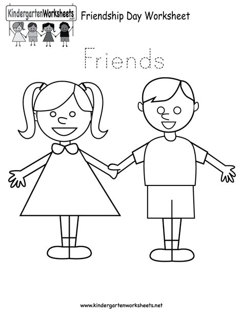 free printable worksheets for preschool free printable friendship day worksheet for