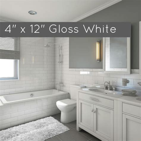 clearance metro subway tile white gloss    ceramic