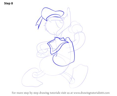 learn   draw  donald duck donald duck step  step