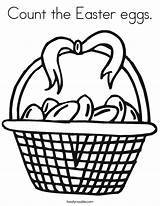 Easter Coloring Eggs Count Basket Template Cursive Egg Bunny Happy Flowers Twistynoodle Outline Built California Usa Noodle Hunt Change sketch template