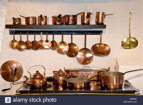 copper kitchen equipment stock photo alamy