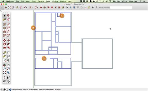 draw   floor plan  scale  sketchup